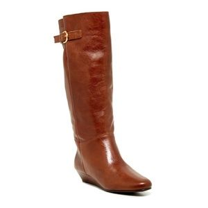 Steve Madden brown tan leather boots size 6